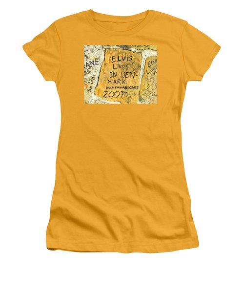 Women's T-Shirt (Junior Cut) featuring the photograph Elvis Lives In Denmark by Lizi Beard-Ward