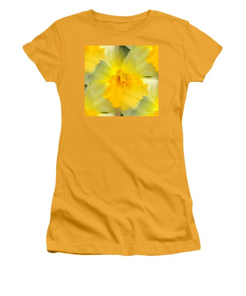 Women's T-Shirt (Junior Cut) featuring the photograph Endless Yellow Daffodil by Judy Palkimas