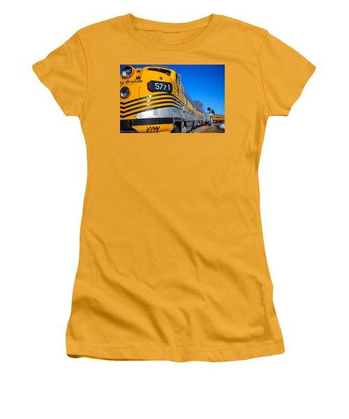 Women's T-Shirt (Junior Cut) featuring the photograph Engine 5771 by Shannon Harrington