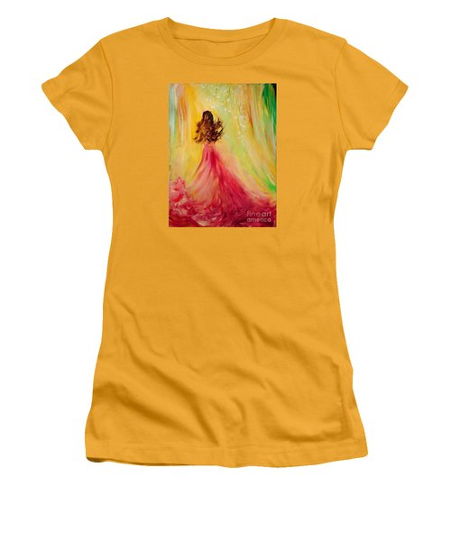 Expecting Women's T-Shirt (Junior Cut) by Teresa Wegrzyn