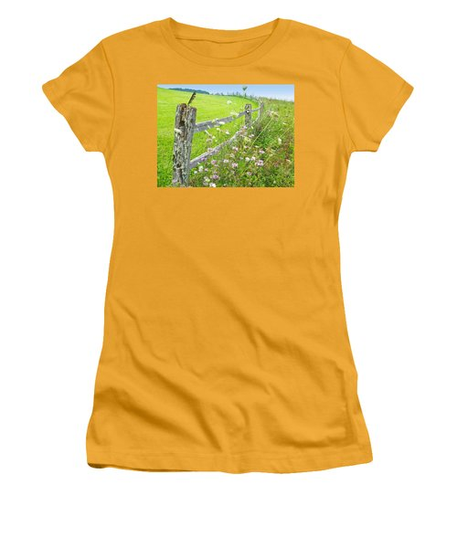 Fence Post Women's T-Shirt (Junior Cut) by Melinda Fawver