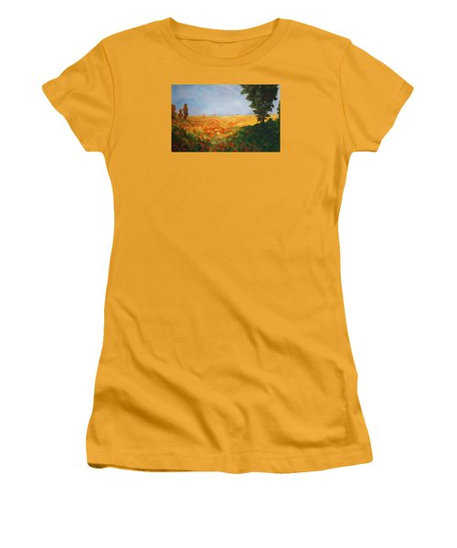Field Of Poppies Women's T-Shirt (Junior Cut) by Jean Walker