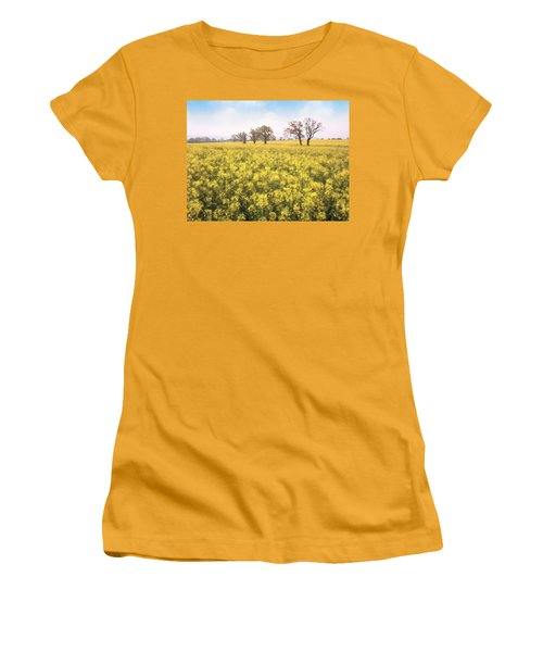 Fields Of Yellow Women's T-Shirt (Athletic Fit)