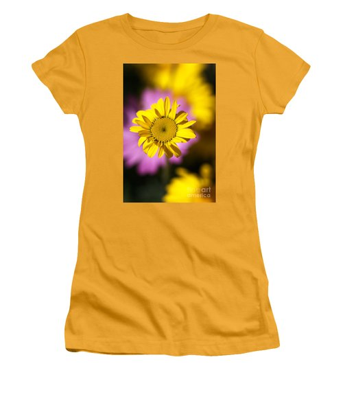 Women's T-Shirt (Junior Cut) featuring the photograph Floating Daisy by Joy Watson