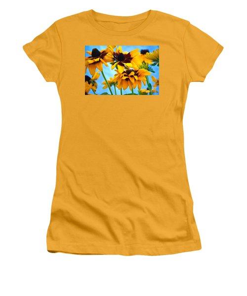 Floral 1 Women's T-Shirt (Athletic Fit)