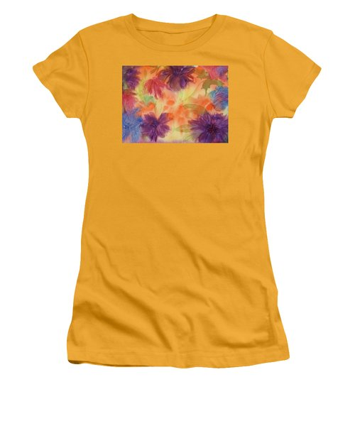 Floral Fantasy Women's T-Shirt (Junior Cut) by Ellen Levinson