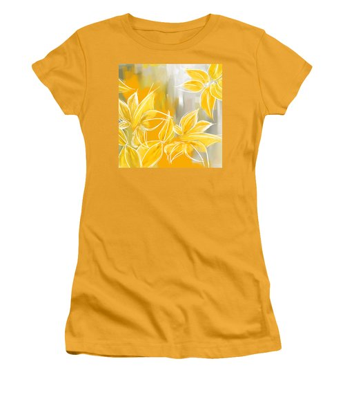 Floral Glow Women's T-Shirt (Athletic Fit)