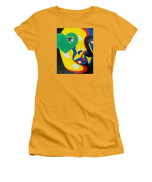 Women's T-Shirt (Junior Cut) featuring the painting Follow Your Heart by Susan DeLain