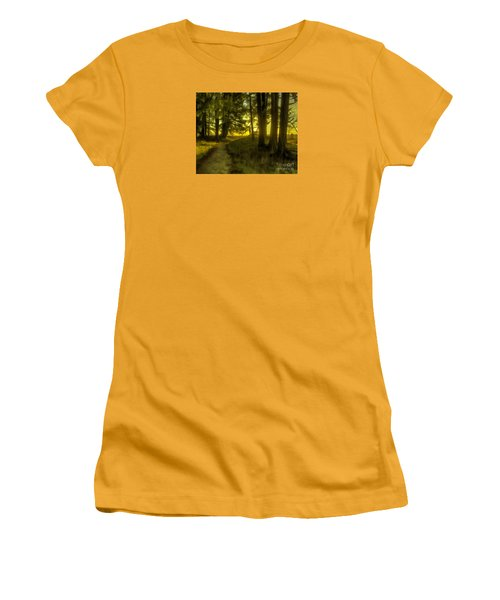 Forest Path Women's T-Shirt (Junior Cut) by Jean OKeeffe Macro Abundance Art