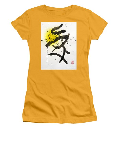 Frog's Tonguing A Bee Women's T-Shirt (Junior Cut) by Roberto Prusso