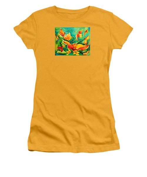 Garden Series No.3 Women's T-Shirt (Junior Cut) by Teresa Wegrzyn