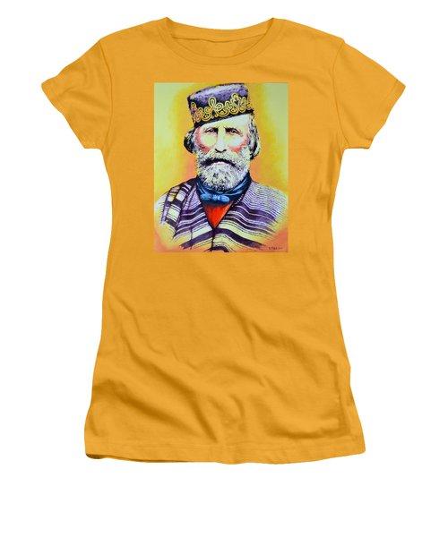 Giuseppe Garibaldi Women's T-Shirt (Junior Cut) by Victor Minca