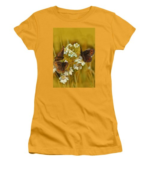 Gold And Brown Women's T-Shirt (Athletic Fit)
