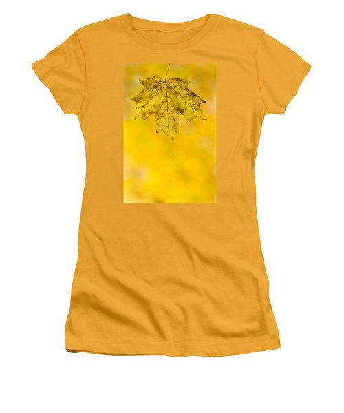 Women's T-Shirt (Junior Cut) featuring the photograph Golden Autumn by Sebastian Musial