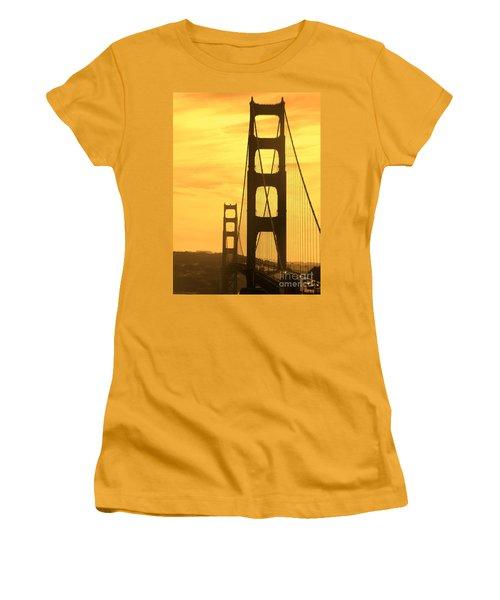 Women's T-Shirt (Junior Cut) featuring the photograph Golden Gate Bridge  by Clare Bevan