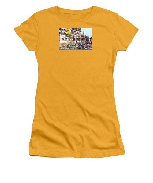 Good Morning Ganga Ji 2 Women's T-Shirt (Athletic Fit)