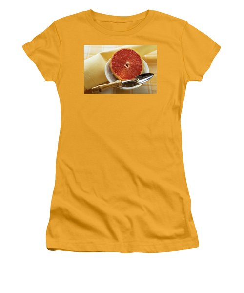 Grapefruit Half With Grapefruit Spoon In A Bowl Women's T-Shirt (Athletic Fit)