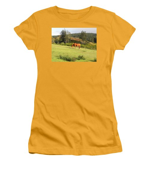 Women's T-Shirt (Junior Cut) featuring the photograph Grazing by Cheryl Hoyle