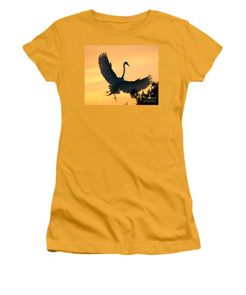Women's T-Shirt (Junior Cut) featuring the photograph  Sunset Ballet by John F Tsumas