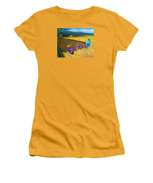 Harvest Season Women's T-Shirt (Junior Cut) by Lorna Maza