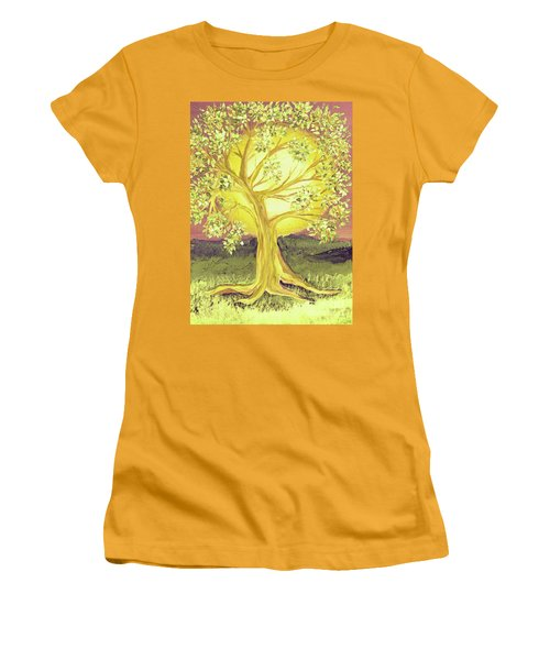 Heart Of Gold Tree By Jrr Women's T-Shirt (Athletic Fit)