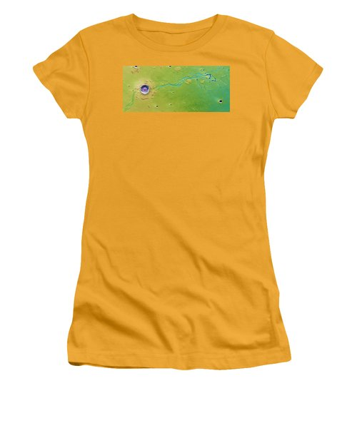 Women's T-Shirt (Junior Cut) featuring the photograph Hephaestus Fossae, Mars by Science Source