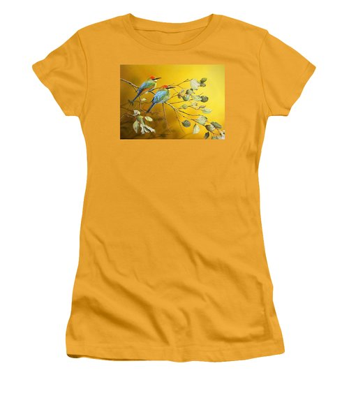 Here Comes The Sun - Rainbow Bee-eaters Women's T-Shirt (Athletic Fit)