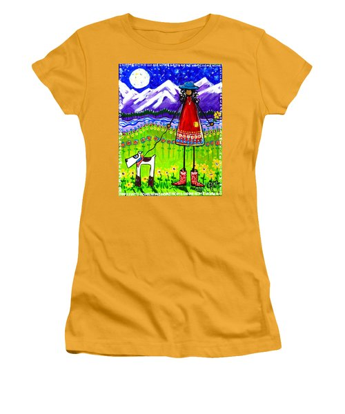 Women's T-Shirt (Junior Cut) featuring the painting Home by Jackie Carpenter