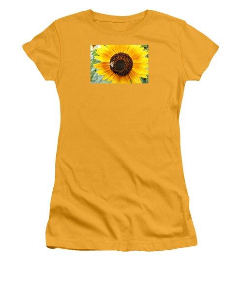 Honeybee On Small Sunflower Women's T-Shirt (Junior Cut) by Lucinda VanVleck