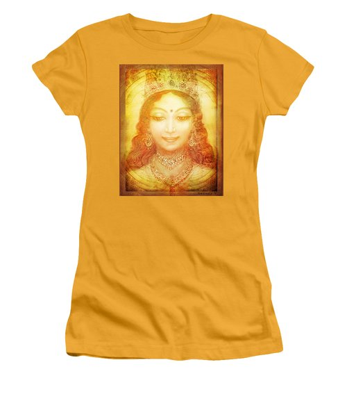 Women's T-Shirt (Junior Cut) featuring the mixed media I Am That by Ananda Vdovic