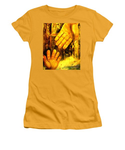 Women's T-Shirt (Junior Cut) featuring the painting I Chose You by Hazel Holland