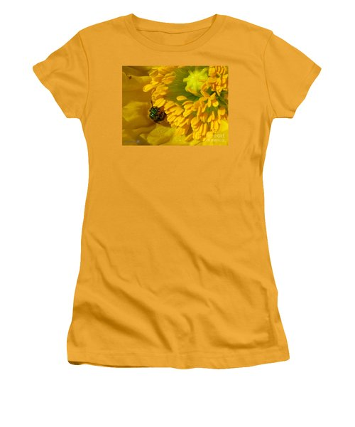 Women's T-Shirt (Junior Cut) featuring the photograph Iceland Poppy Pollination by J McCombie