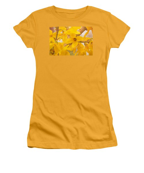Impressionist Forsythia Women's T-Shirt (Athletic Fit)