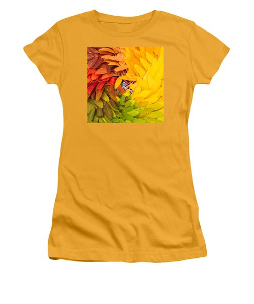 Women's T-Shirt (Junior Cut) featuring the photograph In Living Color by Aaron Aldrich