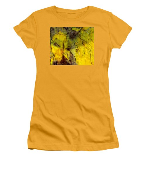 Women's T-Shirt (Junior Cut) featuring the photograph In Yellow  by Danica Radman