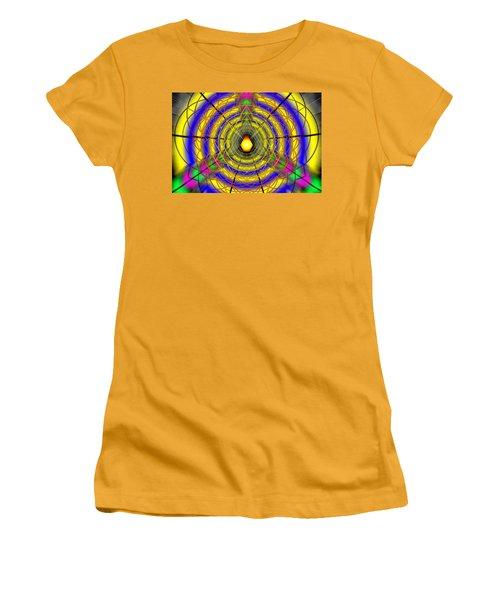 Women's T-Shirt (Junior Cut) featuring the drawing Infinity Gateway Nine by Derek Gedney