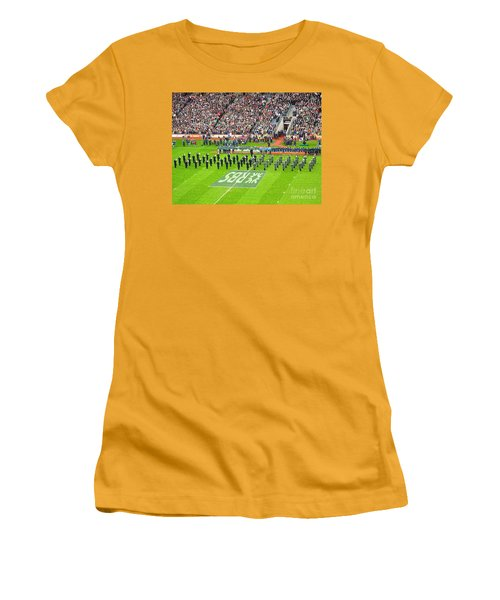 Women's T-Shirt (Junior Cut) featuring the photograph Ireland Vs France by Suzanne Oesterling