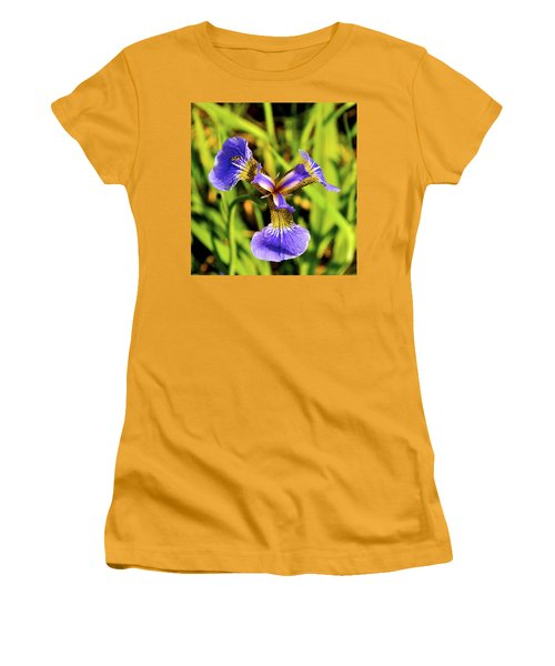 Women's T-Shirt (Junior Cut) featuring the photograph Iris by Cathy Mahnke