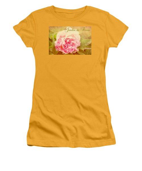 Women's T-Shirt (Junior Cut) featuring the photograph Jardin De Fleurs by Trina  Ansel