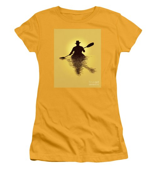 Kayaker Sunset Women's T-Shirt (Athletic Fit)