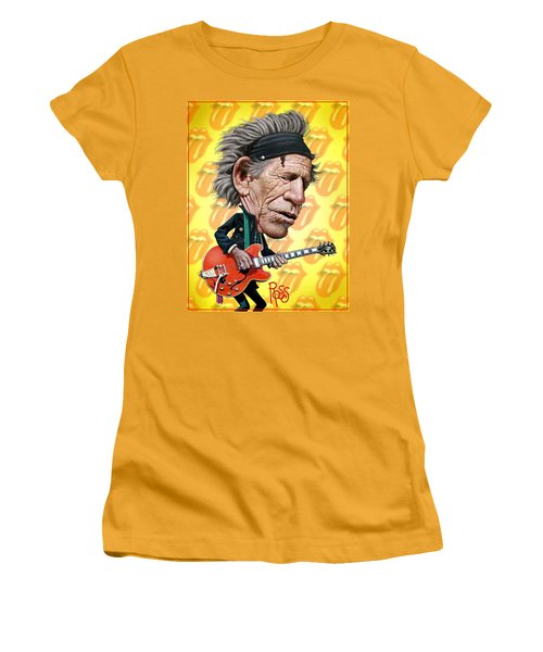Keith Richards Women's T-Shirt (Athletic Fit)
