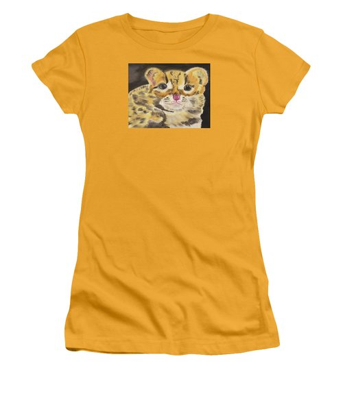 Peek A Boo Kitty Women's T-Shirt (Athletic Fit)