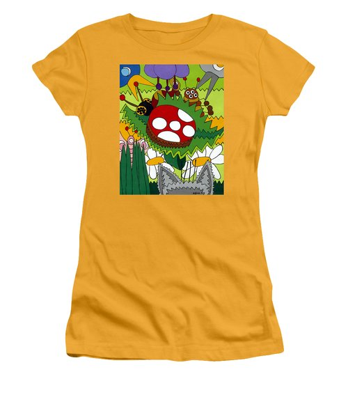 Lady Bug Women's T-Shirt (Junior Cut) by Rojax Art