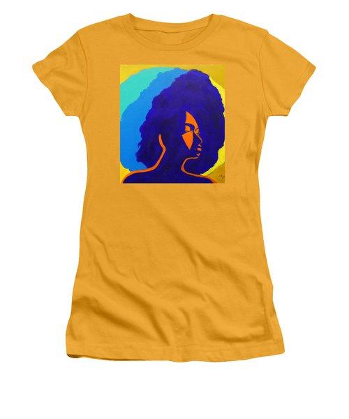 Lady Indigo Women's T-Shirt (Junior Cut) by Apanaki Temitayo M
