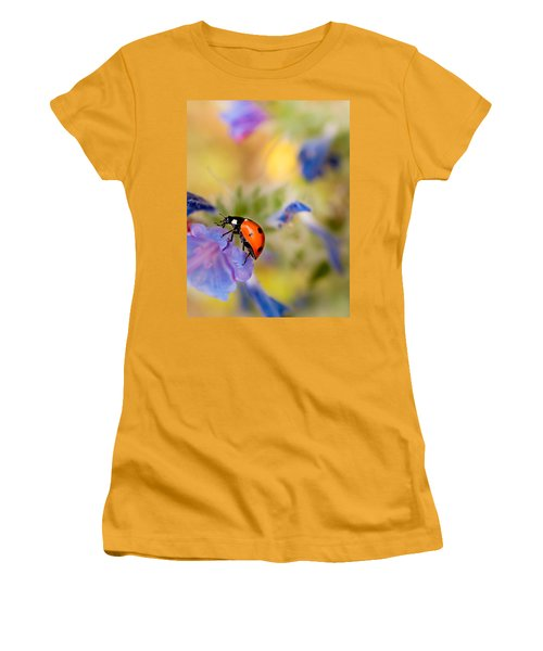 Ladybird Women's T-Shirt (Junior Cut) by Meir Ezrachi
