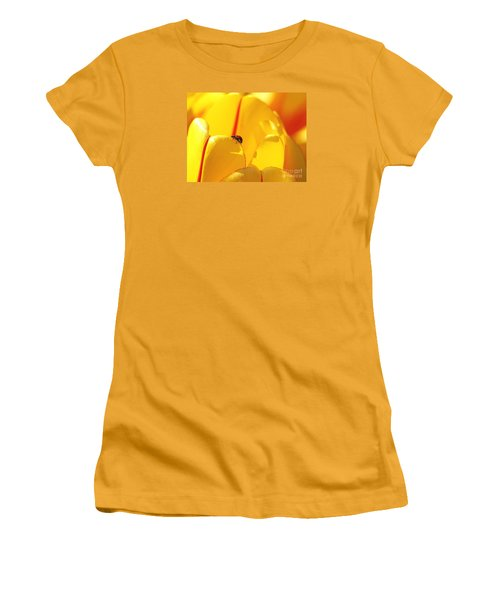 Women's T-Shirt (Junior Cut) featuring the photograph Ladybug - The Journey by Susan  Dimitrakopoulos