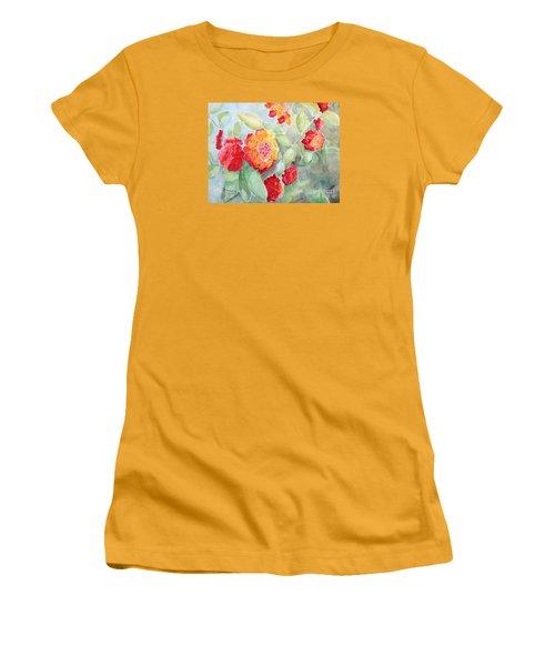 Lantana II Women's T-Shirt (Junior Cut) by Marilyn Zalatan