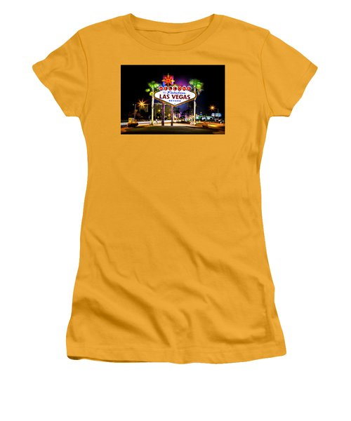 Las Vegas Sign Women's T-Shirt (Junior Cut) by Az Jackson