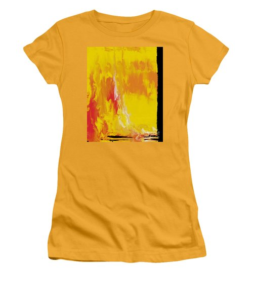 Lemon Yellow Sun Women's T-Shirt (Junior Cut) by Roz Abellera Art