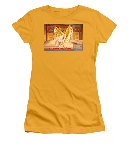 Let's Celebrate Lord Jesus And Dance Women's T-Shirt (Junior Cut)